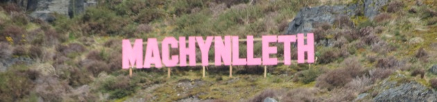 Welcome to Machynlleth sign